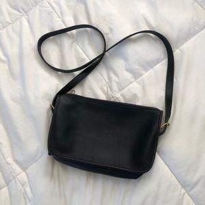 Coach Vintage Black Leather Small Crossbody Bag